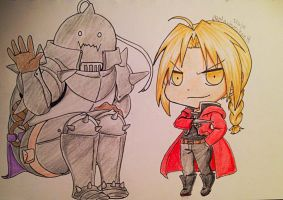 Elric Brothers by SaMelodii
