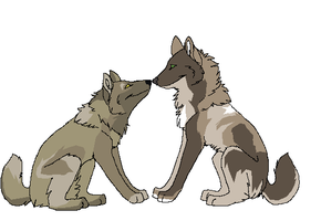 Wolf Couple by Dread-Pirate-Hyde