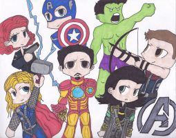 Little Avengers by DropDeadDraculina