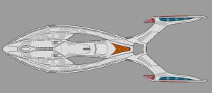 Star Trek post-TNG-era ship WIP by AdamKop