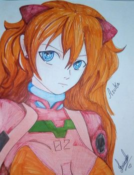 Asuka Fanart Evagelion  by Lady-Sweet-Suicide