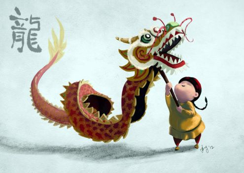 Enter the dragon by Belindi