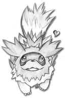 Zigzagoon sketch by foreverbluejeans