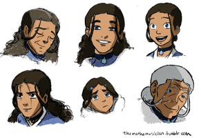 Katara, at various ages by themathemusician