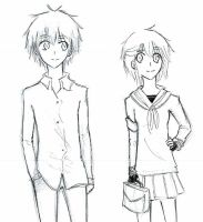 Haru and his female version by vmxk