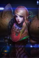 Samus Portrait KKG Artbook by ZeroNis