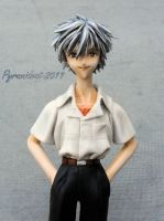 WooD Eva Kaworu garage kit by Pyramidcat