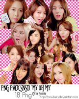 Png Pack Snsd of MV My oh My by poubery