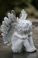 Angel Statue Stock 022 by Malleni-Stock