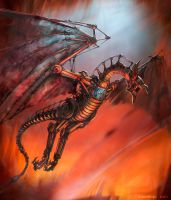 Mechanical Wyvern by m0zch0ps