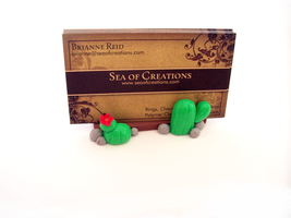 Cactus Card Holder by SeaOfCreations