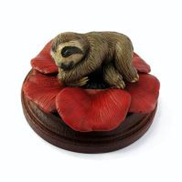 Sloth and Poppy Sculpture by LeiliaClay