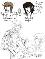 Eragon: Love and Wrongs Sketches by ElizaLento