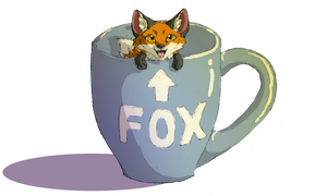 Fox in a Cup by wanton-fox
