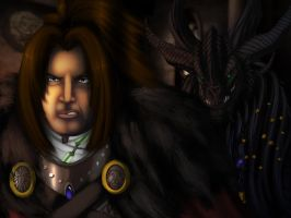 King Varian Wrynn and Lord Daval Prestor by Ghostwalker2061