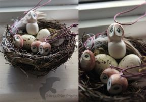 Barn Owl Family ornaments by RavenStarStudio