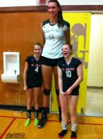 Really tall volleyball player by lowerrider
