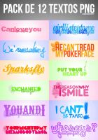 Pack 12 Textos Png by BieberDream