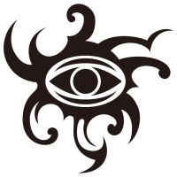 Tribal designed Gorgon's eye by Takihisa