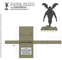 Paper Pezzy- Shadow Demon by CyberDrone