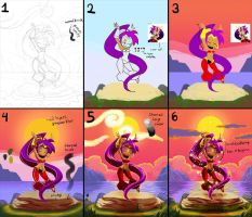 Shantae picture process by HipsterAnt