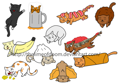More cat chibis by thelimeofdoom