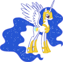 Pony request 52- Celestia Moon by ah-darnit
