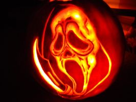Ghostface Pumpkin by meepymoof