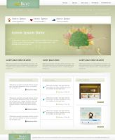 Clean PSD Web Layout by artbox7-com