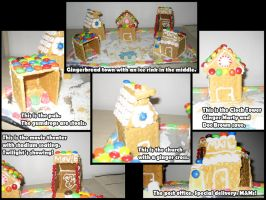 Gingerbread Town by LaurenKitsune