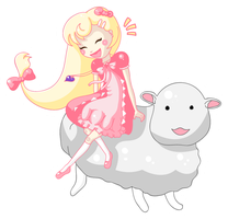 Cream and Sheep (Art Trade) by ColaChu
