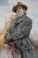 Portrait of Jeff Bridges in 'True Grit' by Mummyscurse
