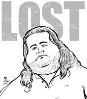 LOST Hurley INKS - AUG 4 2014 ART JAM by JeremiahLambertArt