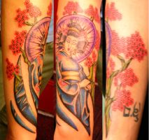 geisha by newtskewltattoo