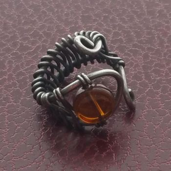 Amber Glass and Steel by TracyJDesigns