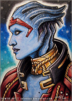 Samara -sketch card- by LeyWink