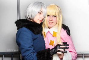 Male!Belarus and Fem!Russia Cosplay by MymiMustang