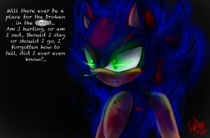 Bad Apple~Dark Sonic by DarkStarling716