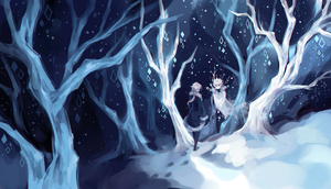 Hiver and the King of Tree Frost by robotfish