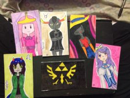 My cards by BecauseWafflesCanFly