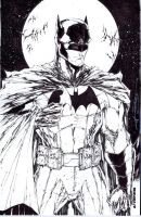 Batman sketchcover by adelsocorona