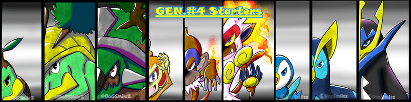 Generation #4 Starters Collage by DogSmilez
