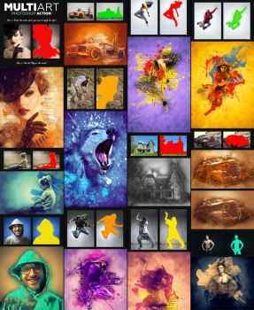 MultiArt Photoshop Action by GraphicAssets