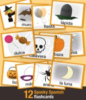 12 Spooky Spanish Flashcards by chat-noir