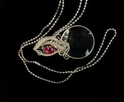 Gothic Steampunk Vampire Blood Eye Monocle by LadyPirotessa