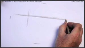 Learn How To Draw A Cartoon Airplane 001 by drawingcourse