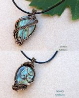 Labradorite wire wrapped pendant by IanirasArtifacts