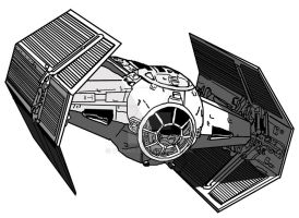 Darth Vader's Tie Fighter by V-kony