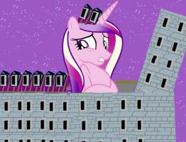 Princess Cadence grows though the roof by OceanRailroader