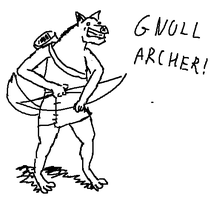 GNOLL ARCHER by shook12